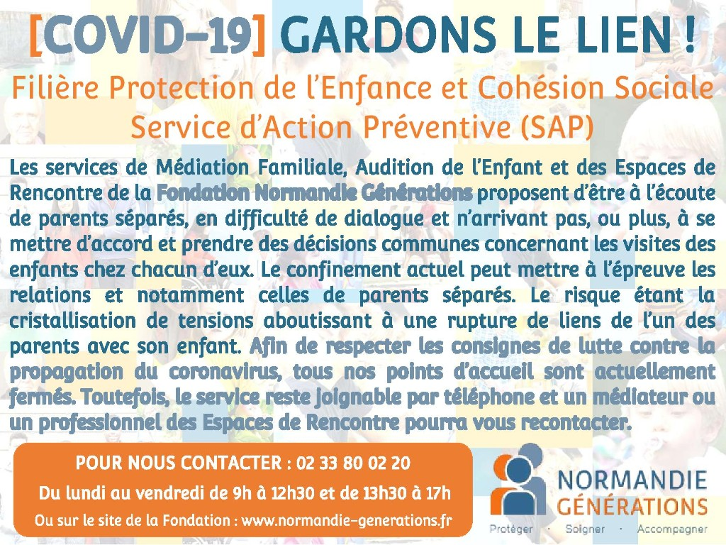 Le Service des Actions de Prévention de la Fondation Normandie Générations reste mobilisé