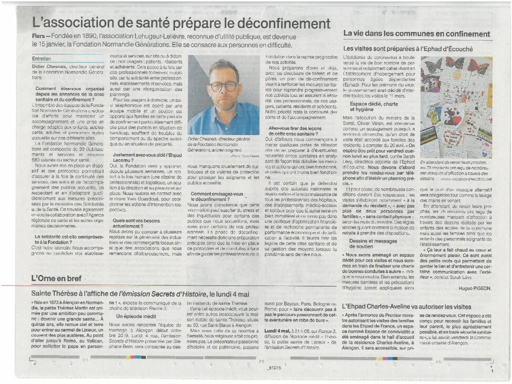 «Coronavirus. À Flers, l'association de santé prépare le dé-confinement» – Article Ouest France