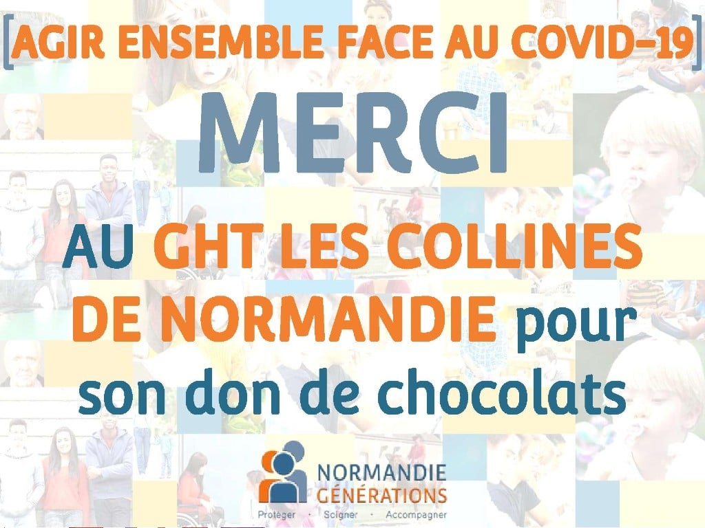 [SOLIDARITÉ] Un grand merci au GHT LES COLLINES DE NORMANDIE pour son don de chocolats