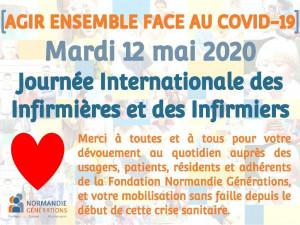 Aujourd'hui mardi 12 mai 2020, c'est la journée internationale des infirmières et des infirmiers !