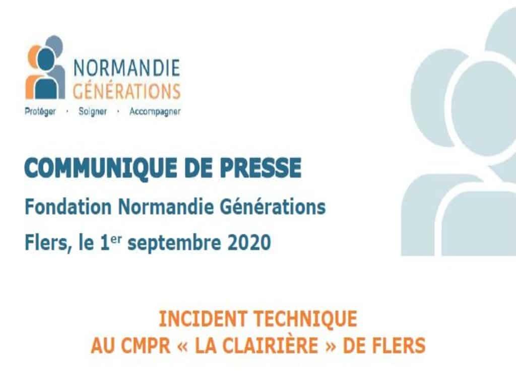 Incident technique maîtrisé au CMPR «La Clairière» de Flers