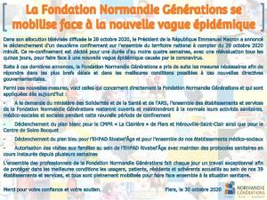 [COVID-19] La Fondation Normandie Générations se mobilise face à la nouvelle vague épidémique