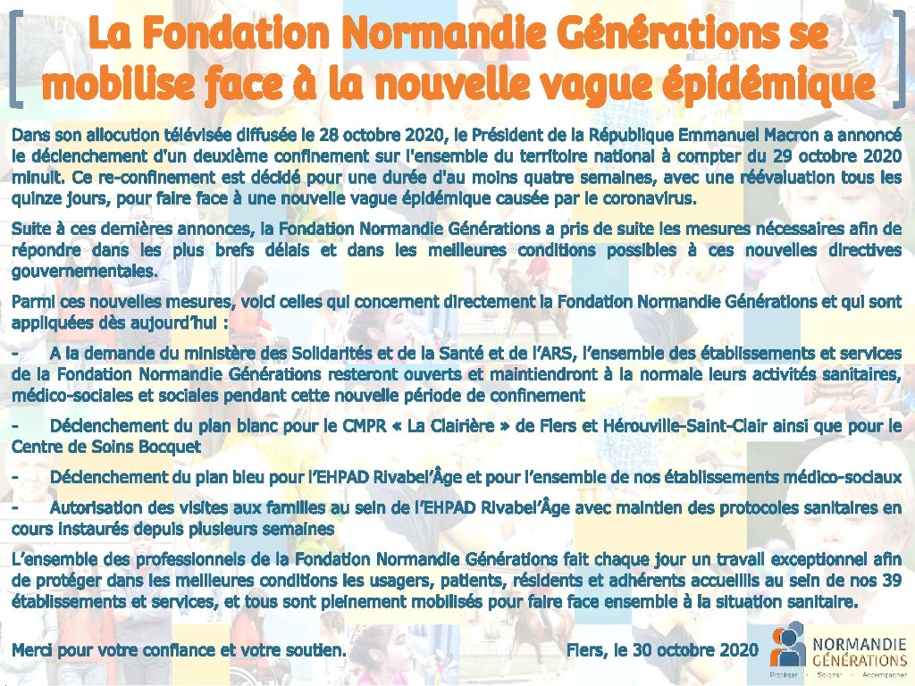 La Fondation Normandie Générations se mobilise face à la nouvelle vague épidémique