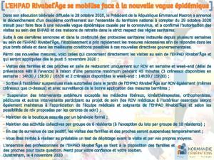 [COVID-19] L'EHPAD Rivabel'Âge se mobilise et s'organise face à la nouvelle vague épidémique