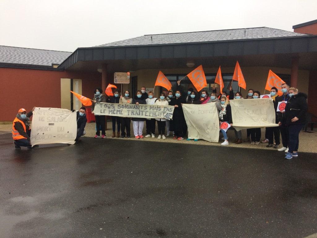 [SÉGUR DE LA SANTÉ] Privés de Ségur, des établissements de la Fondation Normandie Générations en grève