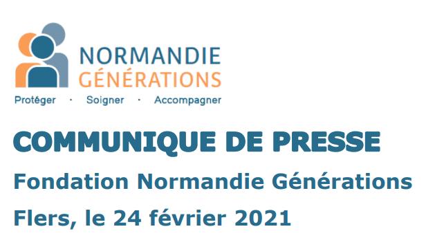 [COMMUNIQUÉ DE PRESSE] La Fondation Normandie Générations solidaire face aux inégalités du Ségur de la Santé