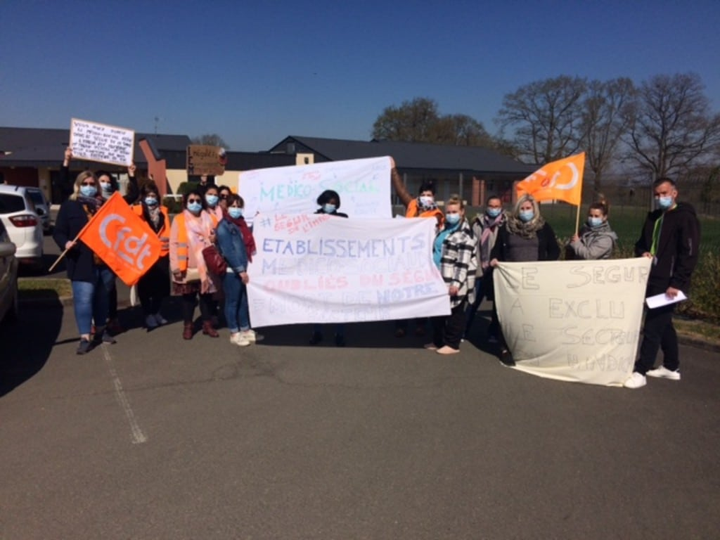 [COMMUNIQUÉ DE PRESSE] Nouvelle journée de mobilisation à l'IEM la Forêt contre les inégalités du Ségur de la Santé, action soutenue par la direction de la Fondation Normandie Générations