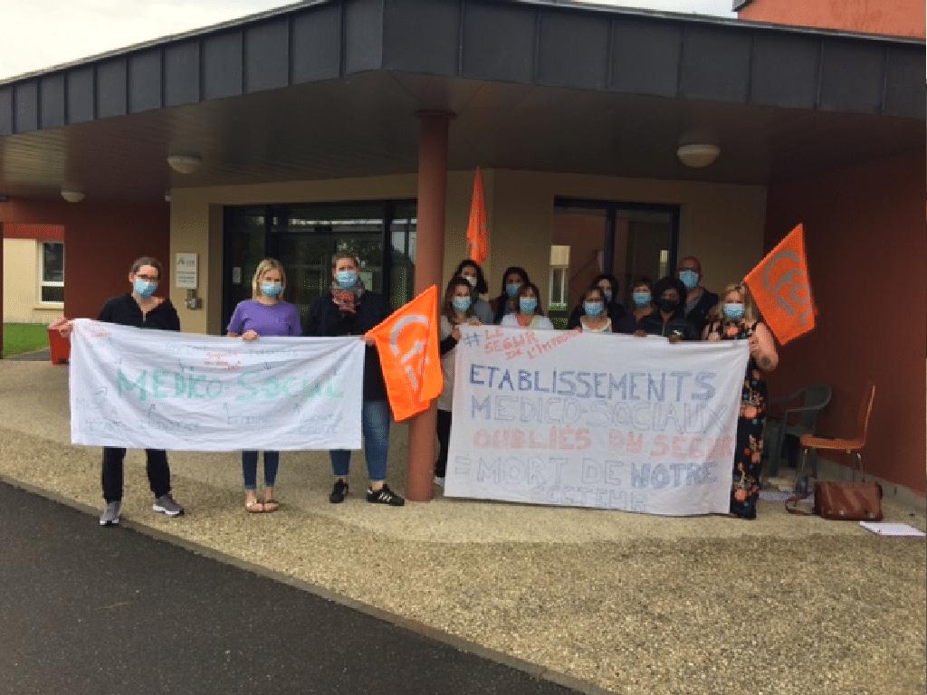 [SÉGUR DE LA SANTÉ] Jeudi 3 juin 2021, nouvelle journée de mobilisation à l'IEM la Forêt contre les inégalités de traitement du Ségur de la Santé